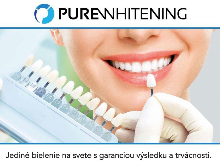 pure whitening bielenie zubov